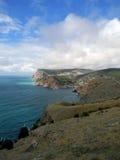 Den Crimean kusten av svart ser nära Balaklava Royaltyfria Foton