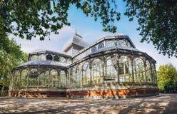 Den Cristal slotten inom Retiro parkerar, Madrid, Spanien arkivbild