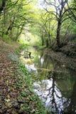 Den Cromford kanalen Fotografering för Bildbyråer