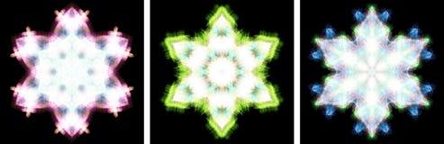 den crystal designkaleidoscopen like snow Arkivbilder