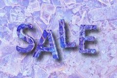 Den Crystal SALEN uttrycker på crystal bakgrund Royaltyfri Bild