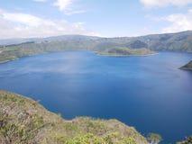 Den Cuicocha lagun, Otavalo Ecuador arkivbilder