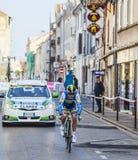 Den cyklistClarke Simon Paris Nice prologen 2013 i Houilles Arkivbild