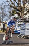 Den cyklistGeniez Alexandre Paris Nice prologen 2013 i Houill Royaltyfri Bild