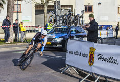 Den cyklistKelderman Wilco- Paris Nice prologen 2013 i Houille Arkivfoto