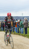 Den cyklistLaurens tio fördämningen - Paris-Nice 2016 Arkivfoto