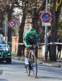 Den cyklistMalacarne Davide- Paris Nice prologen 2013 i Houill Royaltyfri Fotografi
