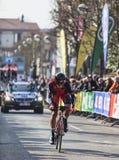 Den cyklistOss Daniel Paris Nice prologen 2013 i Houilles Arkivbild