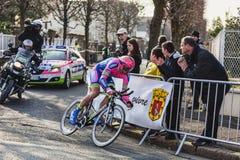 Den cyklistPetacchi Alessandro Paris Nice prologen 2013 i Hou Arkivfoto