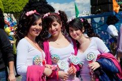 Den Cypern karnevalet ståtar i Limassol Arkivbilder