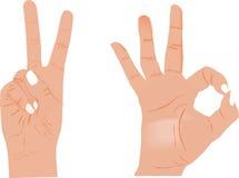 den dåliga falska gesthanden betyder nr Royaltyfria Foton
