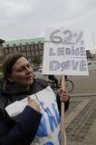 DEN DÖVA PROTESTEN SAMLAR I KÖPENHAMN Royaltyfri Fotografi