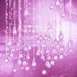 den 3D specificerade illustrationen av en droppe av vattenrosa f?rger f?rgar royaltyfri fotografi