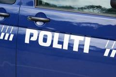 DEN DANSKA POLISEN royaltyfri bild