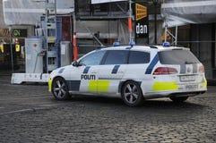 DEN DANSKA POLISEN _POLITI Royaltyfria Bilder