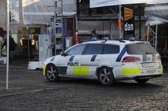 DEN DANSKA POLISEN _POLITI Fotografering för Bildbyråer