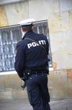 DEN DANSKA POLISEN SOM ÄR TJÄNSTGÖRANDE TILL PROTACT QEEN AV DANMARK Fotografering för Bildbyråer