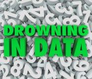 In den Daten zu viele überwältigenden Informationen ertrinken lizenzfreie abbildung
