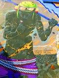 Den Deih levande döden finner den kolossala juveln - Street Art av Valencia royaltyfri bild