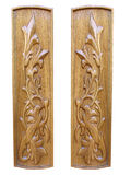 den dekorativa blom- oaken panels den trämodellen Arkivfoto