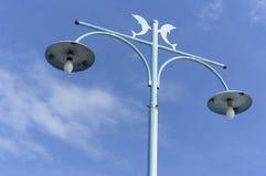 Den dekorativa gatan lampa-postar Royaltyfria Bilder
