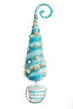 Den dekorativa julgranen stiliserade havet på en vit bakgrund Royaltyfria Bilder