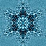 Den dekorativa mirakelsnöflingamandalaen och fractaleffekt i ryss utformar royaltyfri fotografi