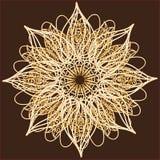 Den dekorativa rundan snör åt, cirklar prydnaden. Royaltyfri Bild