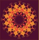 Den dekorativa rundan snör åt, cirklar prydnaden. Royaltyfria Foton