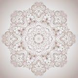 Den dekorativa rundan snör åt modellen Royaltyfria Bilder