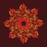 Den dekorativa rundan snör åt modellen, cirkelvektorbakgrund Orient traditionell prydnad Royaltyfri Fotografi