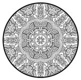 Den dekorativa rundan snör åt modellen som mandala Royaltyfria Foton