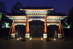 Den dekorativa valvgången av natten Royaltyfri Foto
