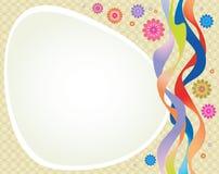Den dekorativa vektorn inramar Arkivbild