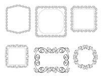 Den dekorativa vektorn inramar Royaltyfria Bilder