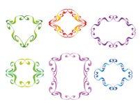 Den dekorativa vektorn inramar Royaltyfri Fotografi