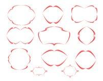Den dekorativa vektorn inramar Royaltyfri Foto
