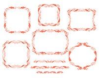 Den dekorativa vektorn inramar Royaltyfri Bild