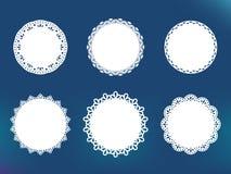 Den dekorativa vektorn snör åt ramar Stock Illustrationer