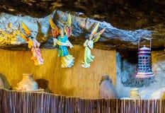 Den dekorerade grottan Arkivfoton