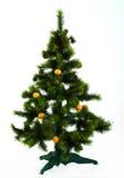 den dekorerade julen sköt studiotreen Arkivbilder
