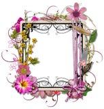 den dekorerade ramen i lager tappning Royaltyfri Foto