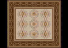 Den delikata modellen av mattan i beiga- och bruntskuggor Arkivbilder
