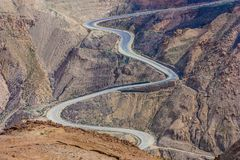 Den desrtic bygden av Jordanien arkivfoton