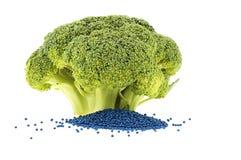 den dess broccolifloreten kärnar ur helt arkivbild