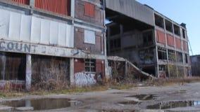 Den Detroit fabriken fördärvar 2 stock video