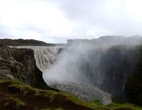 Den Dettifoss vattenfallet arkivbild