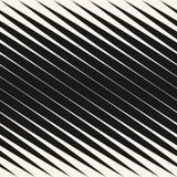 Den diagonala halvton gör randig den sömlösa modellen, vektor lutade parallelllinjer Svartvit designbeståndsdel royaltyfri illustrationer