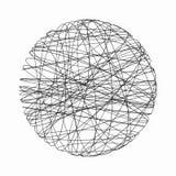 Den Digital sfären med nätverksanslutning fodrar i teknologi Arkivbild