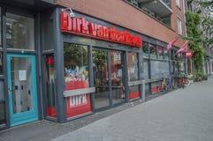 Den Dirk Supermarket At Amsterdam The Nederländerna arkivfoto